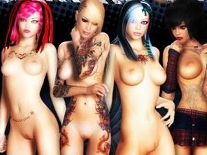 3D Bad Girls - fotos de XXX desnudos