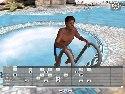 3D GayVilla 2 chico de la piscina negro posando