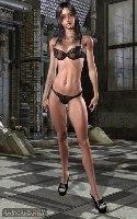 chica virtual bikini oscuro